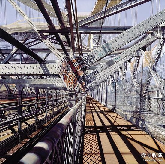 理查德·埃斯蒂斯的画作《Williamsburg Bridge》