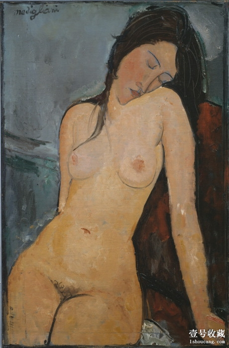 Modigliani_-_Female_nude_(Iris_Tree)
