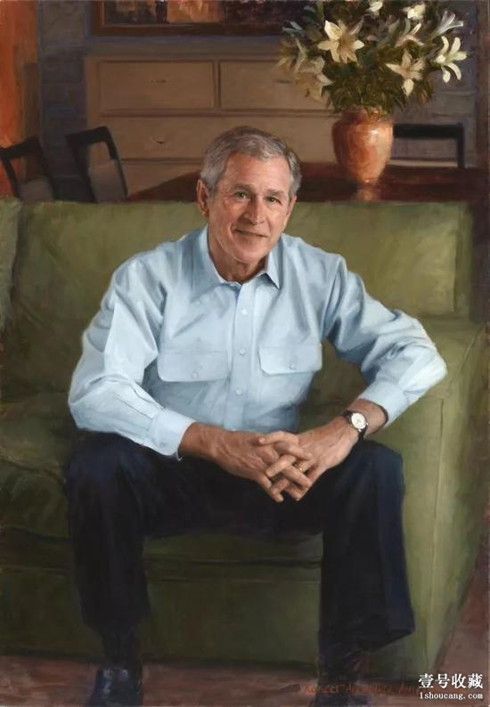 Robert A. Anderson为乔治·沃克·布什(George W. Bush)创作的肖像,2006。图片:Courtesy of the National Portrait Gallery